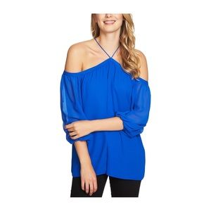 1.STATE COBALT OFF SHOULDER BLOUSE